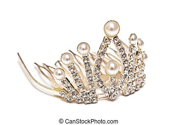 Tiara - Platinum tiara isolated on a white background