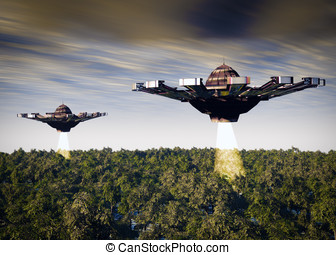 Unidentified Flying Objects - Two UFOs a search and rescue...