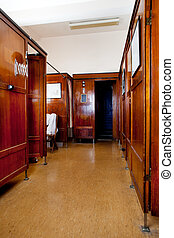 Old Bath House Interior - A 1920's functionalism style bath...