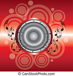 red musical background