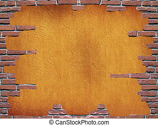 Brick wall grundy frame