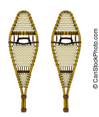 Wooden Snow Shoes - Traditional wood webbed snow shoes...