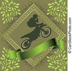 Abstract Background with motorcycle