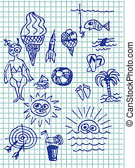 hand drawn summer collection
