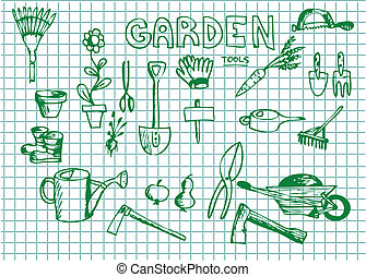 hand drawn garden illustrations