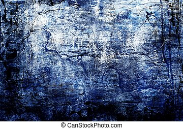 Worn out - Abstract background in grunge style in blue...