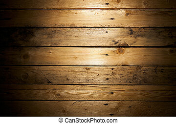 Wood Texture - Pine Wood Deal Texture with Vignette