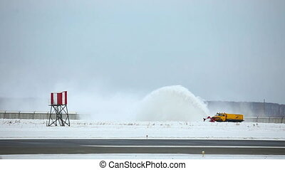 Snowblower. - Snowblower in the Tolmachevo airport,...