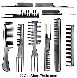 collection of combs