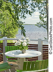 Summer terrace - Traditional summer terrace of the Finnish...