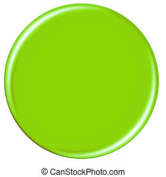 Plain Green Button - A plain green button with copyspace