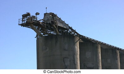 Cement Plant Loading Stones - A conveyor belt loads...