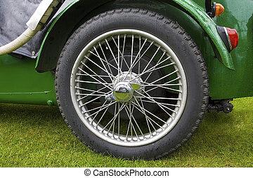 Wheel of classic car