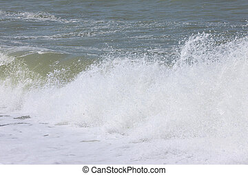 wave and spray on the French Normandy coast