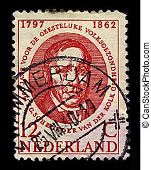Postage stamp. - NETHERLANDS-CIRCA 1960:A stamp printed in...
