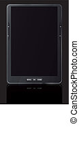 e reader - illustration of ebook reader with black...