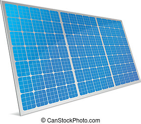 solar cells - illustration of a panel with solar cells and...