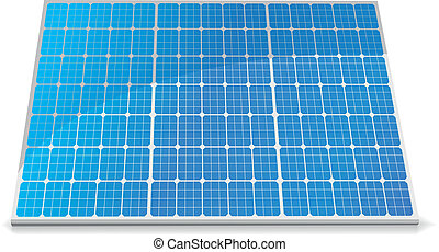 solar cells - illustration of a solar cell module, eps8...