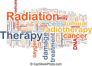 Radiation therapy background concept - Background concept...
