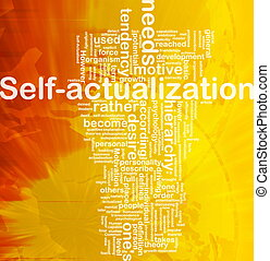 Self-actualization background concept - Background concept...