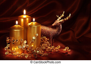 Christmas candles and decoration