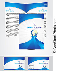 abstract blue corporate id template vector illustration
