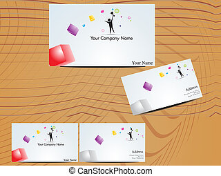abstract colroful buisness cards vector illustration