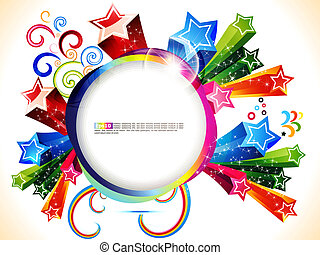 abstract colorful explding with stars vector illustration