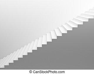 blanco, vacío, Escaleras