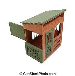 Dutch Door Open on a Wooden Barn - Dutch door open on a...