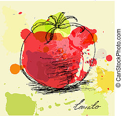 Tomato - Stylized illustration of tomato