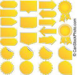 Yellow vector price tags - Set of yellow vector price tags...