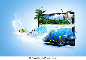 3D TV - feel the nature - 3D TV technology - nature and sea...