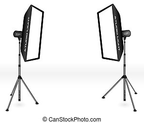 Photographic LIghting - Two Professional Studio Lights with...
