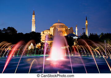 Hagia Sophia at Night - The Hagia Sophia Byzantine...