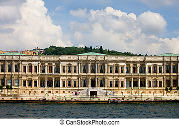 Ciragan Palace in Istanbul - Ciragan Palace, view from the...