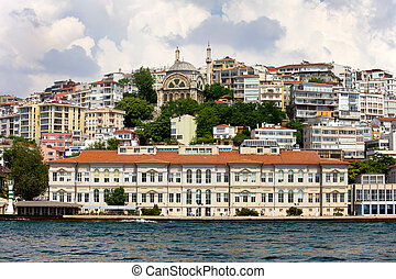 Istanbul City - View on the Beyoglu district from the...
