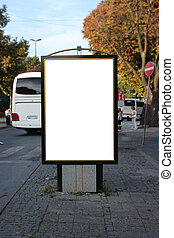 Blank Billboard with clipping path - Shallow depth of field
