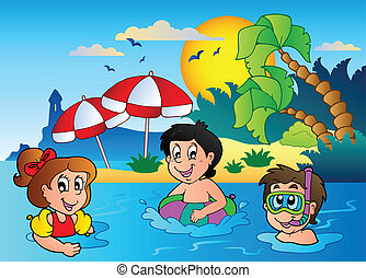 Summer theme image 2 - vector illustration.
