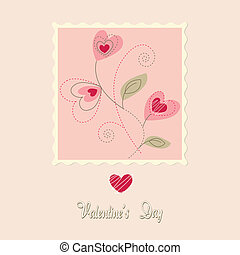 flowers card, valentine\'s day