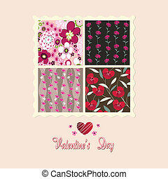 flowers card, valentines day