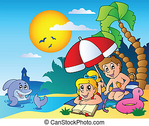 Summer theme image 6 - vector illustration