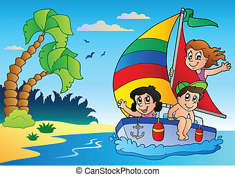 Summer theme image 5 - vector illustration