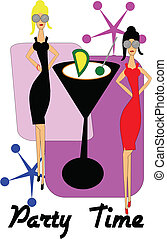 party time invite - invitation to martini ,cocktail party...