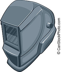 Welding Helmet - Illustration of a welders helmet. Vector...