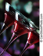 Martini glasses - Martini glasses in front of the night...