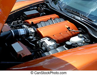 Car Engine - Car engine displayed at car show winder georgia...