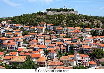 Sibenik - Croatia - Sibenik in Dalmatia. Mediterranean...