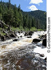Rapids at little Salmon in Idaho - The little Salmon is very...
