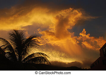 Stormy Sunset 2 - Sunset on Tortola, British Virgin Islands.